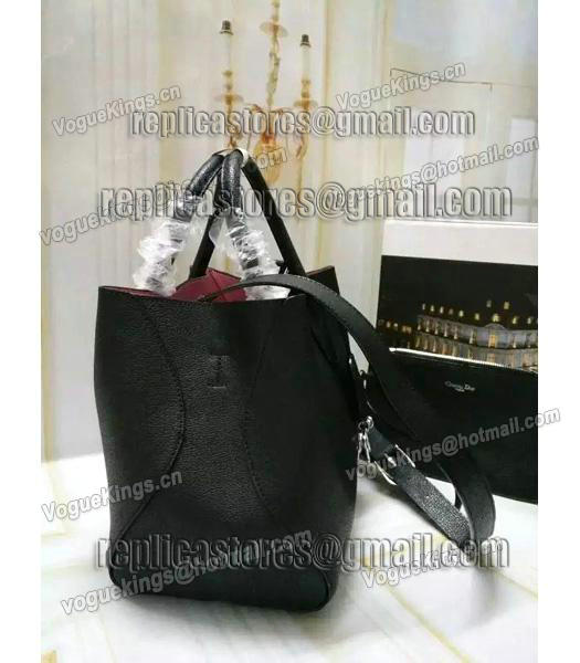 Christian Dior 28cm Exclusive New Tote Bag 60001 Black Leather_2