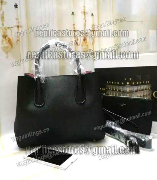 Christian Dior 28cm Exclusive New Tote Bag 60001 Black Leather_3