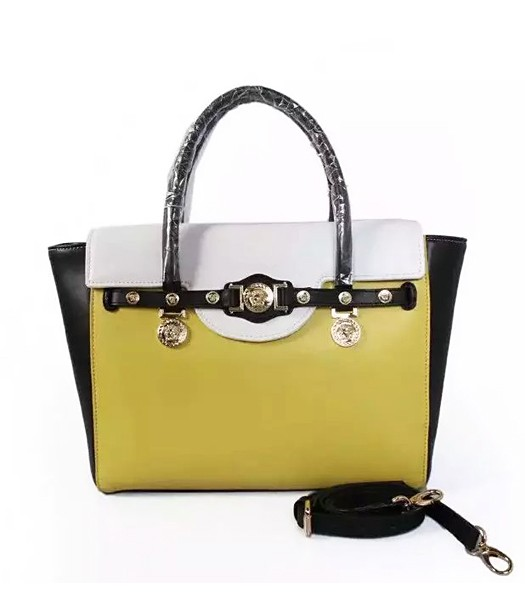 Versace High-quality Cow Leather Small Top Handle Bag 2809 Green
