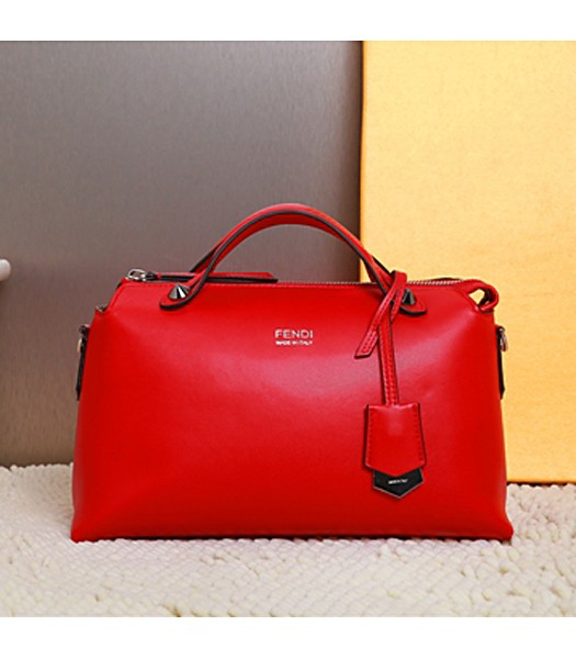 Fendi By The Way Small Shoulder Bag 2356 In Red Leather