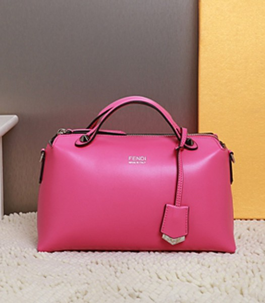 Fendi By The Way Small Shoulder Bag 2356 In Plum Red Leather