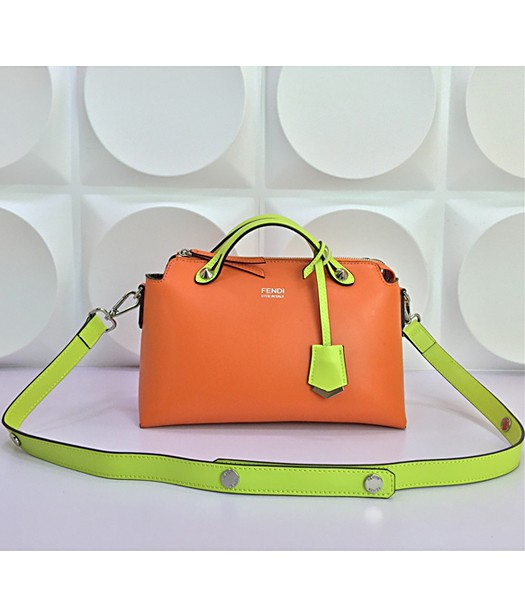 Fendi By The Way Small Shoulder Bag 2356 In Orange/Green Leather