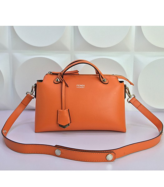 Fendi By The Way Small Shoulder Bag 2356 In Orange Leather