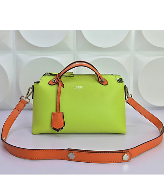 Fendi By The Way Small Shoulder Bag 2356 In Green/Orange Leather