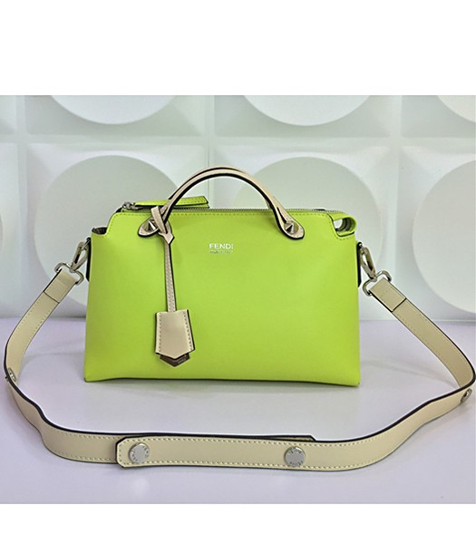Fendi By The Way Small Shoulder Bag 2356 In Green/Apricot Leather