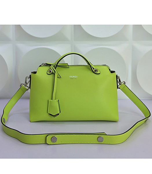 Fendi By The Way Small Shoulder Bag 2356 In Green Leather