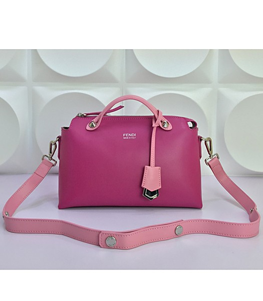 Fendi By The Way Small Shoulder Bag 2356 In Plum Red/Pink Leather