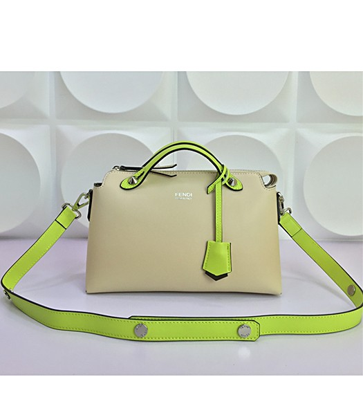 Fendi By The Way Small Shoulder Bag 2356 In Apricot/Green Leather