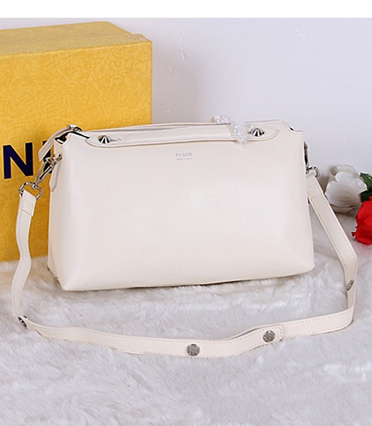 Fendi Top-quality Shoulder Bag 9031 In Offwhite Leather
