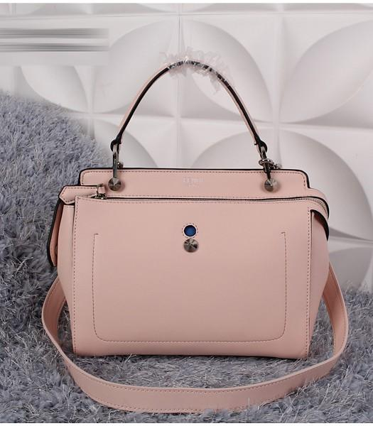 Fendi Selleria Fashion Calfskin Leather Tote Bag 8940 In Pink