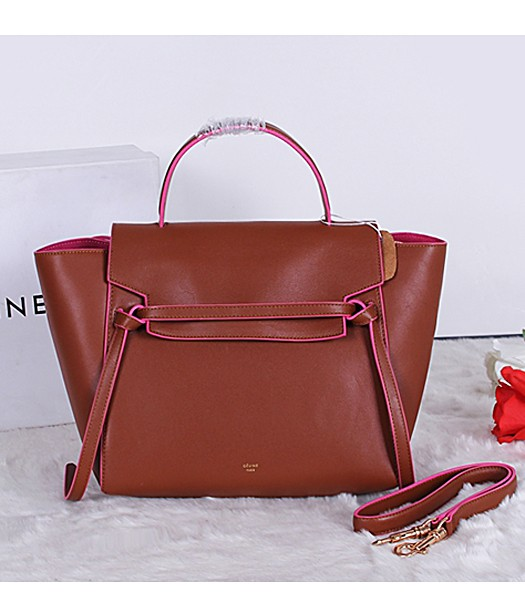 Celine Belt Original Leather Tote Bag 3346 In Yellow