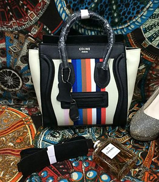 Celine Top-quality Rainbow Women s Bags 8882 With Black Leather