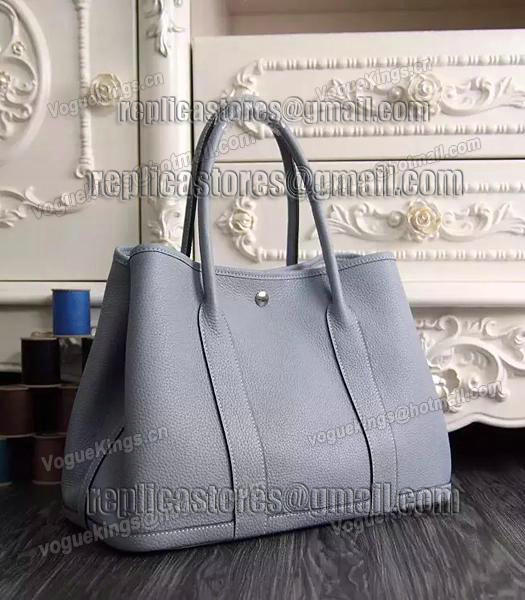 Hermes 32cm Original Leather Garden Party Tote Bag In Grey-1