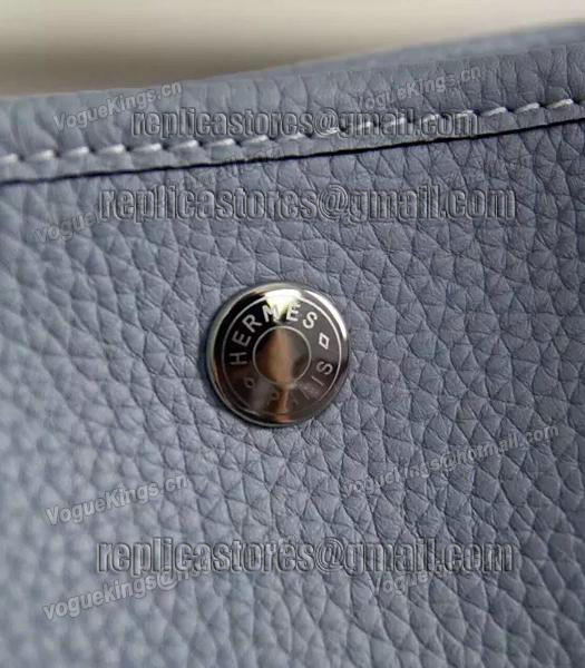 Hermes 32cm Original Leather Garden Party Tote Bag In Grey-2