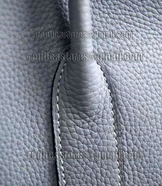 Hermes 32cm Original Leather Garden Party Tote Bag In Grey-5