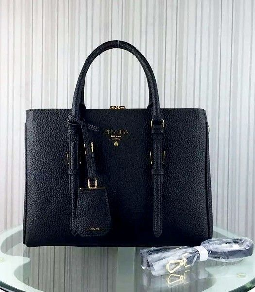 Prada Popular Calfskin Leather Tote Bag BR0133 Black