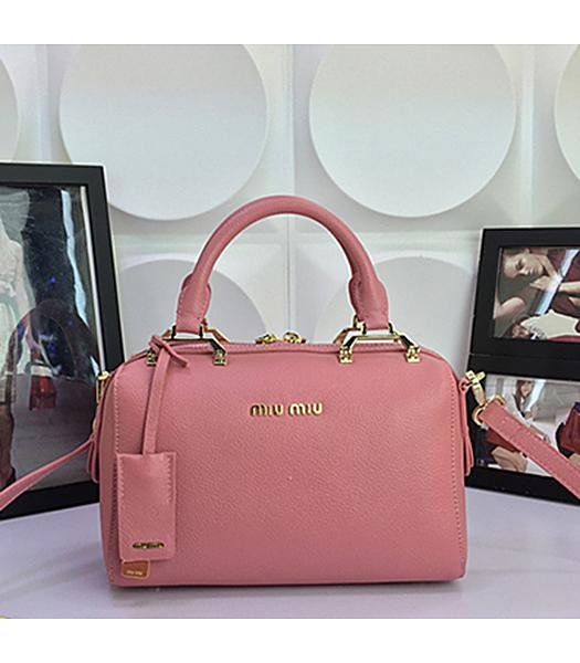 Miu Miu Pink Calfskin Leather Leisure Tote bag 1033
