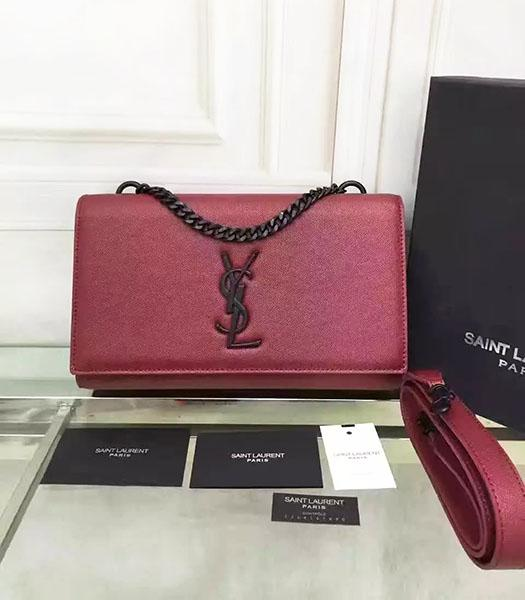 YSL Kate Monogram Jujube Red Caviar Calfskin Leather Chains Bag