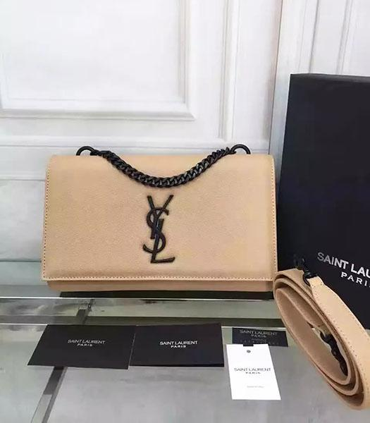 YSL Kate Monogram Beige Caviar Calfskin Leather Chains Bag