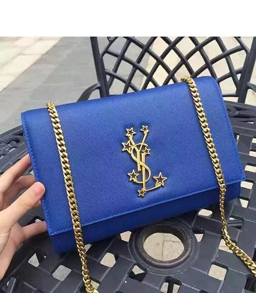 YSL Kate Monogram Black Caviar Leather Stars Rivets Gourmette Bag