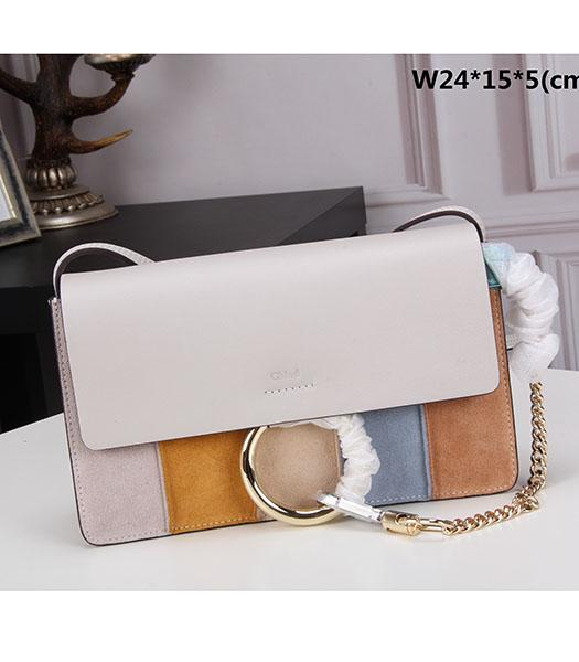 Chloe Colorful Leather Small Shoulder Bag Offwhite
