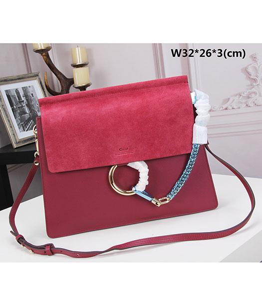 Chloe New Style Jujube Red Suede Leather Shoulder Bag