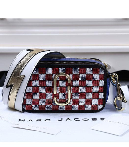 Marc Jacobs Red&White Sequins Small Leather Shoulder Bag
