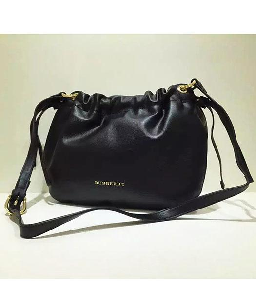 Burberry Original Calfskin Leather House Shoulder Bag Black