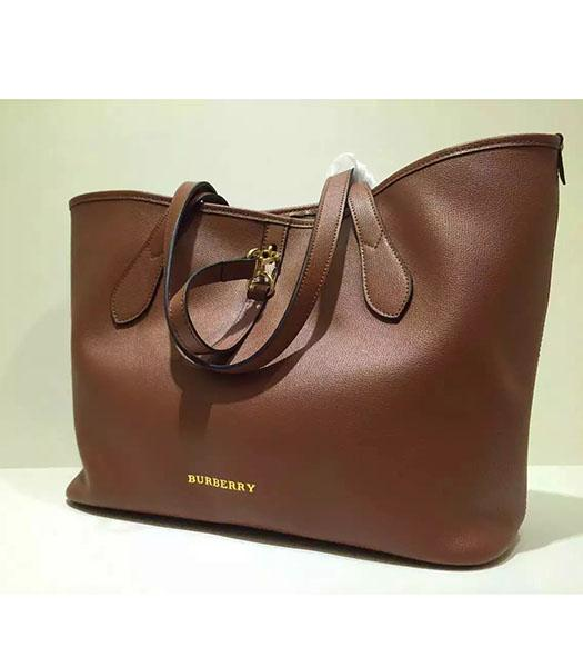 Burberry Original Calfskin Leather Large Tote Bag Brown