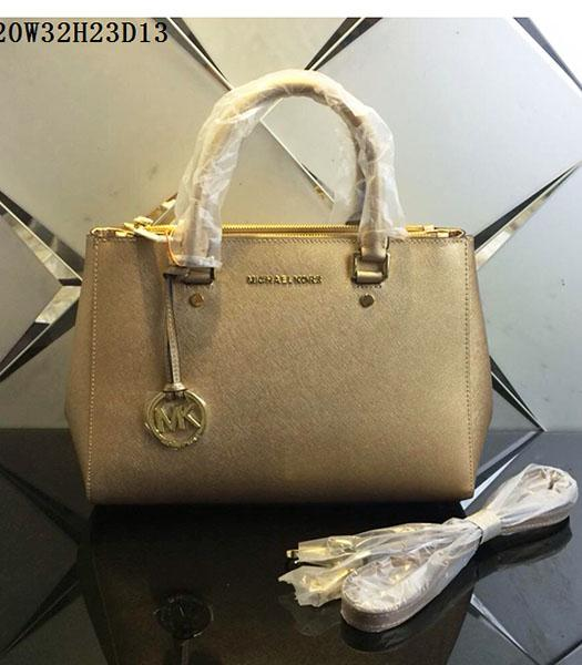 Michael Kors Latest Design Gold Leather Tote Bag