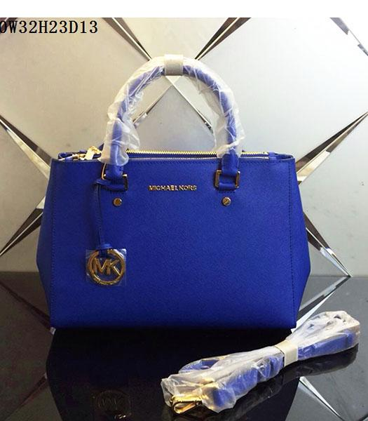 Michael Kors Latest Design Electric Blue Leather Tote Bag