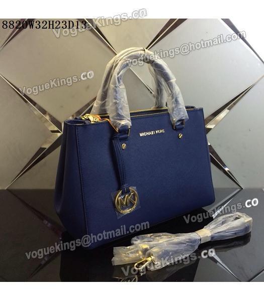 michael kors black and blue bag