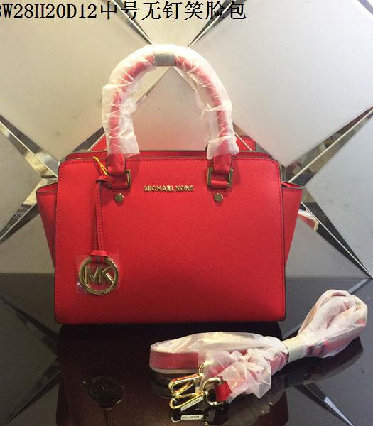 Michael Kors 28cm Red Leather Top Handle Bag