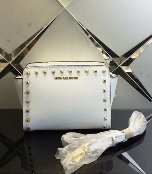 Michael Kors Selma Studded Small Messenger Bag White