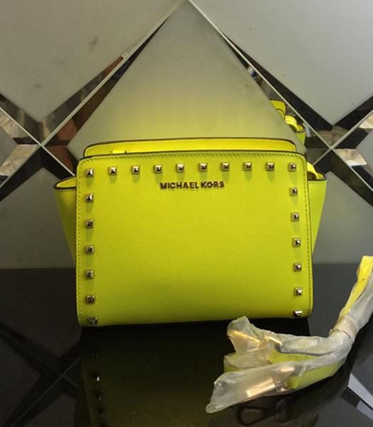 Michael Kors Selma Studded Small Messenger Bag Lemon Yellow