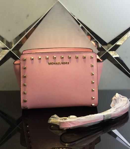 Michael Kors Selma Studded Small Messenger Bag Lobster Pink