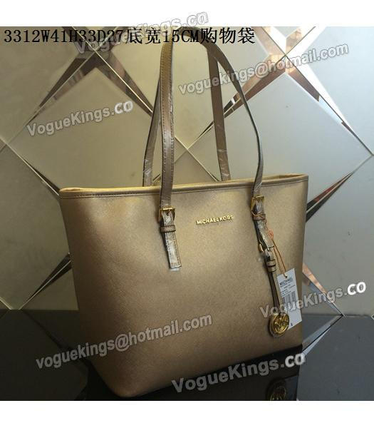 Michael Kors Gold Leather Large Shopping Bag-1