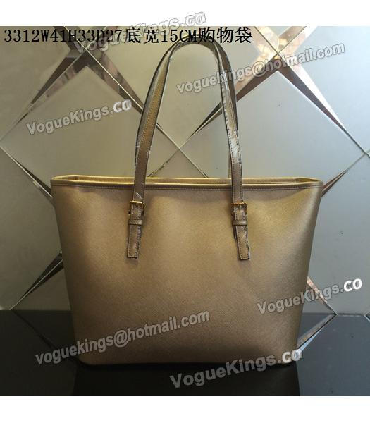Michael Kors Gold Leather Large Shopping Bag-2
