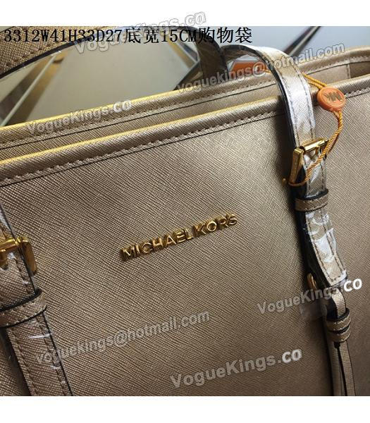 Michael Kors Gold Leather Large Shopping Bag-6