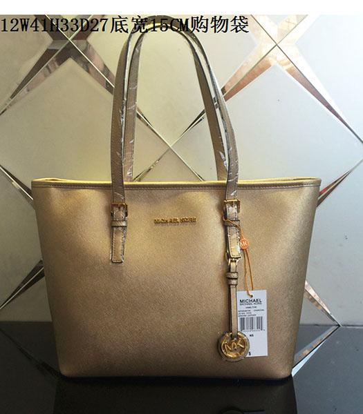 Michael Kors Gold Leather Large Shopping Bag