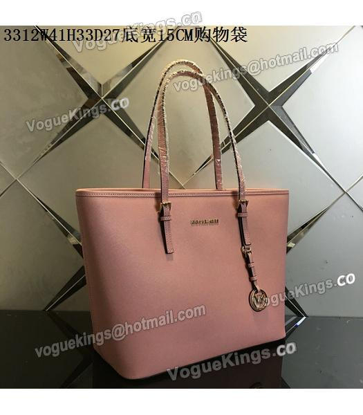 Michael Kors Lobster Pink Leather Large Shopping Bag_1