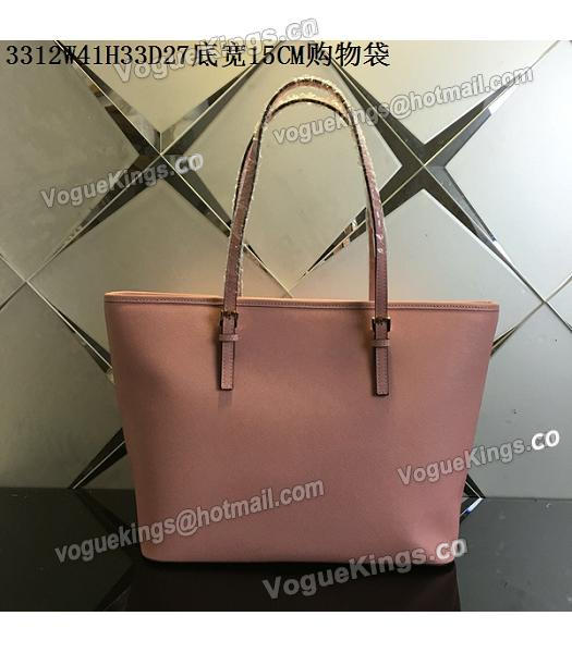 Michael Kors Lobster Pink Leather Large Shopping Bag_2