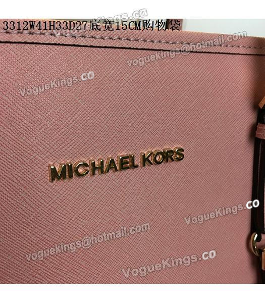 Michael Kors Lobster Pink Leather Large Shopping Bag_6