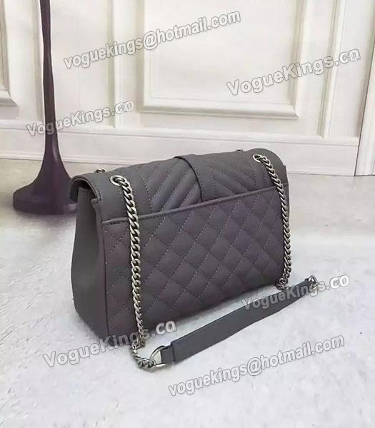 d9efb3c1f3ad ... Chain-2 · YSL Monogramme 27cm Shoulder Bag Grey Leather Antique Silver  Chain-3 ...