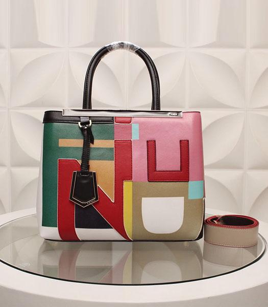 Fendi Latest Design Colorful Leather Top Handle Bag Red