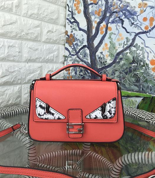 Fendi Mirco Double Baguette Monster Watermelon Red&Black Leather Small Bag