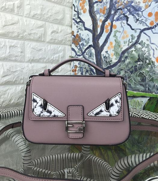 Fendi Mirco Double Baguette Monster Nude Pink&Pink Leather Small Bag