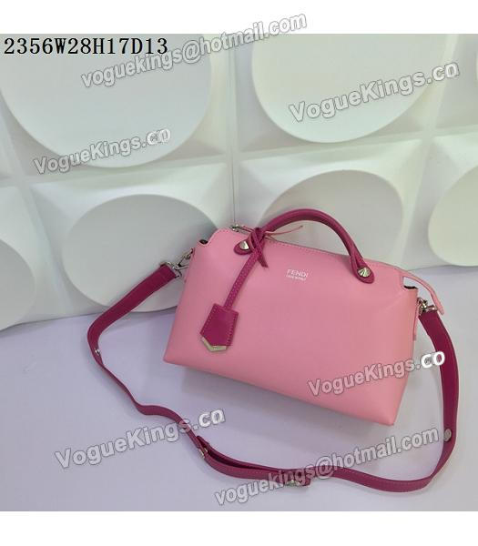 Fendi By The Way Small Shoulder Bag 2356 Pink&Rose Red Leather-4