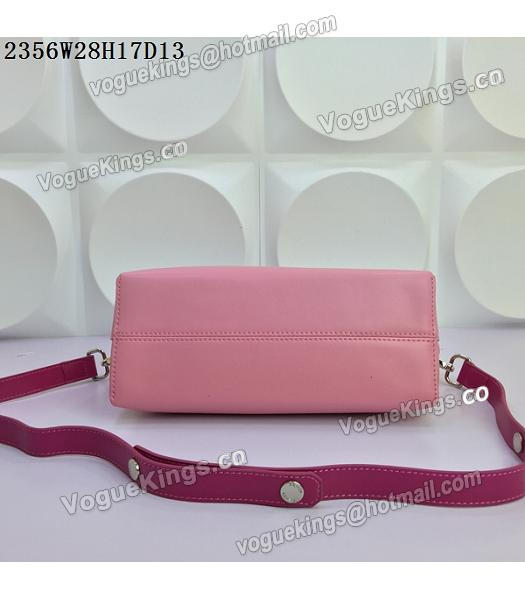 Fendi By The Way Small Shoulder Bag 2356 Pink&Rose Red Leather-5