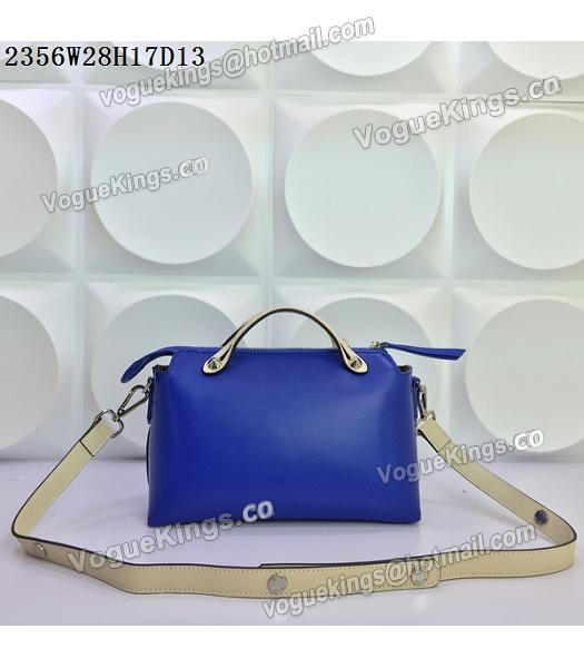 Fendi By The Way Sapphire Blue&Offwhite Leather Small Shoulder Bag 2356-2